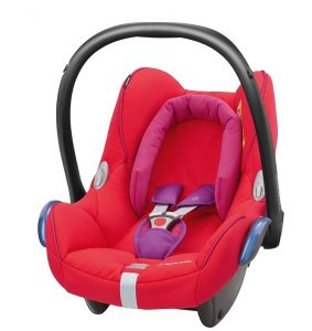 maxicosi carseat babycarseat cabriofix 2017 red redorchid 3qrt