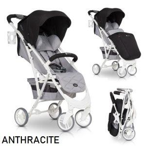 Euro-Cart-Volt-Pro-Anthracite-Wozek-do-22kg-Folia-Ocieplacz-Moskitiera-137635
