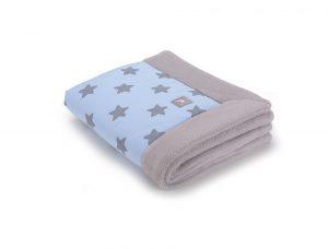 a3177 Blue stars cotton jersej _grey