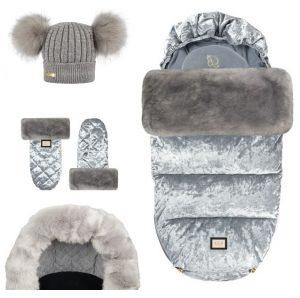 grey velvet 4 elementy