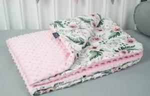 kocyk-100×135-flower-garden-minky-jasny-roz