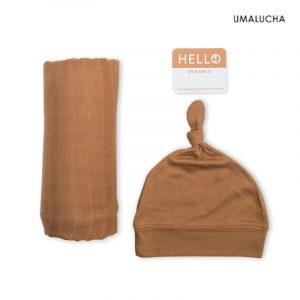 lulujo-zestaw-kocyk-czapka-chocolate