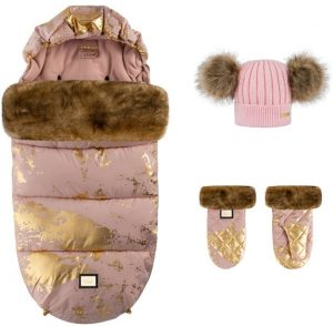 pink golden zestaw 3 elementy