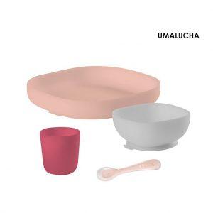pol_pl_Beaba-Komplet-naczyn-z-silikonu-z-przyssawka-pink-4202_1
