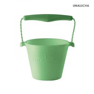 skladane-wiaderko-do-wody-i-piasku-scrunch-bucket-pastelowy-zielony