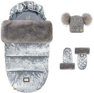 velvet grey 3 elementy